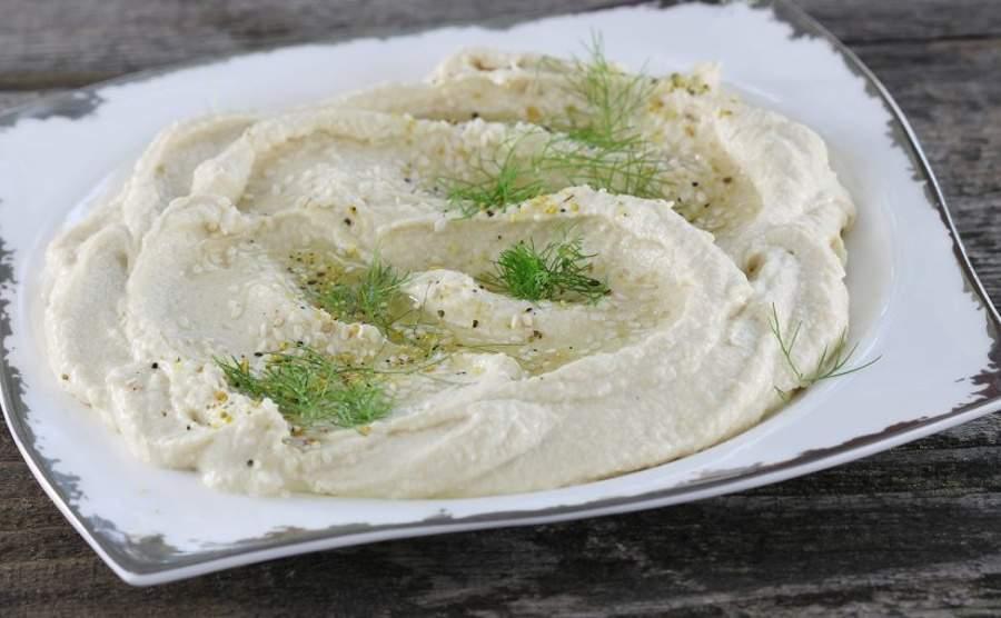 Hummus z serkiem mascarpone