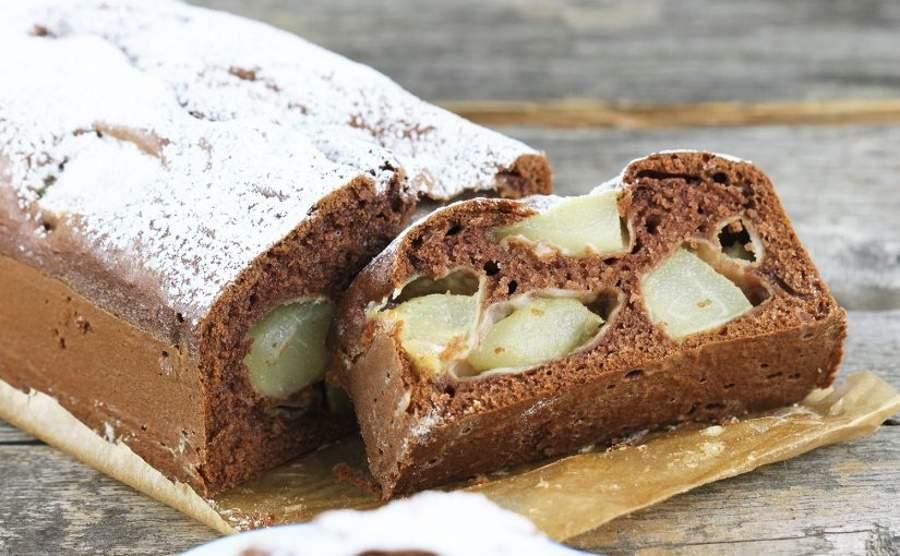 Ciasto kakaowe z gruszkami